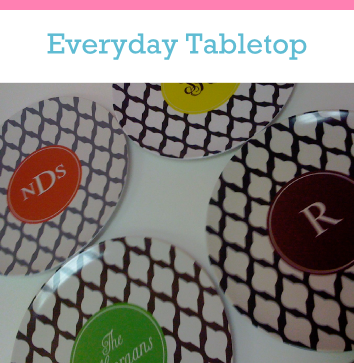 custom plates and personalized placemats