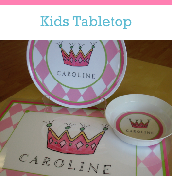 Childrens Personalized Plates Place Mats for kids