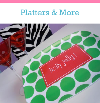 Personalized Platters and custom serving trays